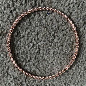Rose gold spiral bracelet